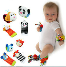 New Baby Foot Socks Wrist Watches Rattles Cute Garden Bug Finders Toys Gift