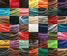 DIY 3mm Flat Leather Lace Cord Thong Jewelry Crafts Faux Suede 49Clrs 2-15yd
