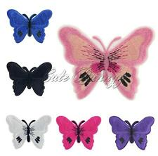 Butterfly Embroidered Motif Applique Iron On Sewing Patch Cloth DIY Accessories