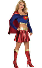 LICENSED SEXY SUPERGIRL SUPER MAN WOMENS ADULT FANCY DRESS HALLOWEEN COSTUME