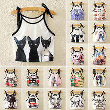 NEW Womens Strappy Crop Top Girls Bralette Lingerie Cami Tank Top Spaghetti Vest
