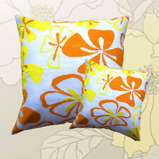 "$ New Counted Cross Stitch Kits ""Cushion & Flower ""(Orange&Yellow) 50cm*50cm"