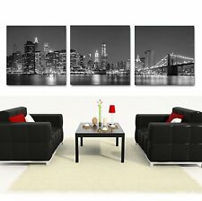MANHATTAN/NYC Skyline ready to hang mounted canvas wall art/betterThan stretched