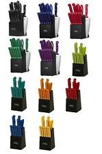 Ginsu Kitchen Cutlery Knife Set Stainless Steel Cooking Wood Block 14 Piece New