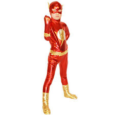 Child The Flash Outfit Fancy Dress Costume Superheroes Kids Boys Cosplay Zentai