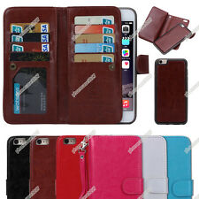 Luxury Practical Magnetic 9 Card slot PU Leather Flip Wallet Phones Case Cover