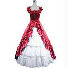 Victorian Southern Belle Prom Dress Cosplay Gown Theater Reenactment Costume