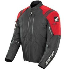 Joe Rocket Mens Honda CBR Black Red Textile Waterproof Armored Motorcycle Jacket