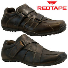 NEW MENS RED TAPE LEATHER CASUAL GYM WALKING TRAINERS DRIVING SHOES SIZE