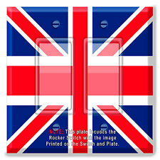 Light Switch Plate Cover Britsh Flag w/ Rocker Switch  Outlet
