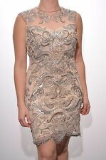 Embellished dress paisley bodycon sequin beaded gatsby 20's Size 4 6 8 10 12 14