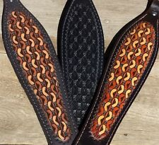 Leather Hand Tooled Master Weave Design Rifle Sling Choice of 3 Colors