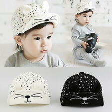 Kids Childs Toddler Infant Baby Boys Girls Hat Peaked Baseball Beret Cap BGO