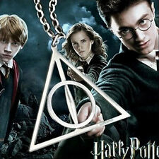 Harry Potter Deathly Hallows Charms Pendants Triangle Long Chain Necklace HOT