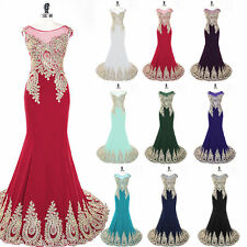 2016 Long Sheath Womens Evening Formal Dress Bridal Party Prom Gown Plus Size