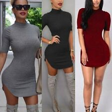 Women Bandage Bodycon Short Sleeve Evening Sexy Party Cocktail Mini Dress Tops