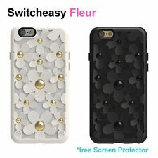 Switcheasy Fleur Case Cover Skin for iPhone 6 S/6S Plus with protector US