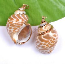 Natural Shell Nice Charms Necklaces & Pendants 40X22MM Jewelry Making Wholesale