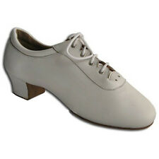 HenryG White Leather Men's Latin Dance Shoes with split sole - HGB-4272