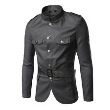 New Fashion Men's Coats Slim Fit Stand Collar Casual Coats Jackets Tops