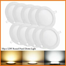 10 Pcs Round 12W SMD LED Recessed Ceiling Panel Down Light Bulb Lamp W/ Driver