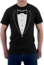 Printed Tuxedo Bowtie Suit Funny T-Shirt Bachelor Party PRom Costume Groom Tux