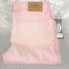 Lauren Jeans Womens Skinny Jeans low rise stretch dawn pink size 10 NEW