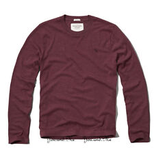 NEW ABERCROMBIE & FITCH for MEN A&F Meacham Lake L/S Tee T Shirt Burgundy S-XXL