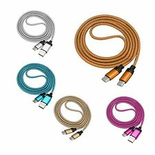 1M Braided Fabric Micro USB Data&Sync Charger Cable Cord For Android iPhone