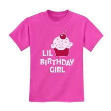 Lil Birthday Girl Gift Idea - Birthday Party Cupcake Kids T-Shirt Cute