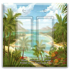 Light Switch Plate Cover Palm Tree Beach Paradise  w/ Rocker Switch  Outlet