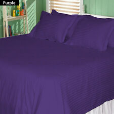 USA (PURPLE STRIPE) 1000TC COMPLETE BEDDING COLLECTION 100% COTTON ALL SIZE