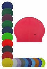 CHEX Latex Plain Adults 8 Years+ Swimming Swim Hat Cap Purple White Pink Yellow