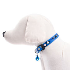 Pet Cat Collar Puppy Dog Cat Adjustable Solid Flexible Collar Kitten With Bell