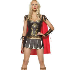 Ladies Greek Xena Gladiator Warrior Princess Roman Spartan Costume & Cape Women