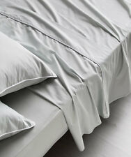 NEW Sheet Set Flat Sheet Fitted Sheet Pillowcase Set 100%Cotton Sateen SMOKE