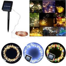 10M 100 LEDs Solar Powered Garden Fairy String Lights Outdoor Indoor Lamp Strip