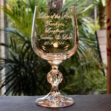 Personalised Crystal Wine Glass,  Mother of the Bride, Bridesmaid  Wedding Gift