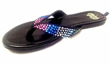 FADED GLORY*- Youth Girls Size 12, 13,2, 3 Premium Flip Flop Jewel Dsign Sandals