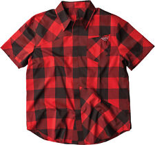 New Fly Racing Jack Down Button Up Shirt Red/Black