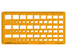 Rectangles Template Drafting And Design Stencil Symbols Drawing Scale