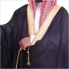 LUXURY BISHT CLOAK ARAB DRESS THOBE ISLAM MEN ROBE EID KAFTAN THOBE SHEIKH JUBBA