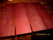 PACKAGES OF THIN PREMIUM KILN DRIED, SANDED EXOTIC PURPLEHEART LUMBER