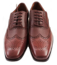 NEW MENS LACE UP WINGTIP OXFORDS CASUAL LEATHER LINED DRESS SHOES BROWN SIZE9.5