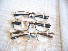 """MEN~LADIES """"EXTRA STRENGTH"""" READING GLASSES/MAGNIFIERS METAL FRAME (4.00-7.00)"""