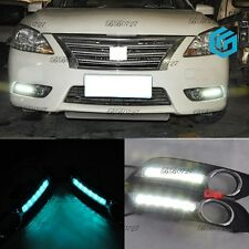 Exact Fit 6-LED Daytime Running Lights with Fog Cover For 2013-15 Nissan Sentra