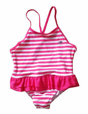 Infant Baby Girls Red Striped One Piece Swimwear Swimsuit Swiming Costume 1-4T