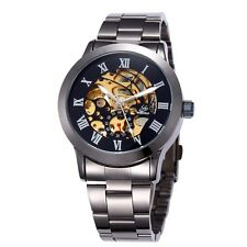 Fashion Watches Mechanical Waterproof Casual Wristwatches Men Leather ShenHua