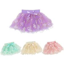 Summer Baby Kids Girls Cute Bowknot Floral Tutu Skirt Princess Mini Tulle Skirt