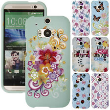 For HTC One 2 M8 Various Design SNAP ON Hard Skin Protector Case Cover Phone